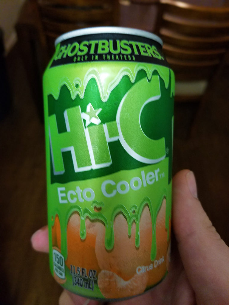 The can is a neat addition to Eco history. The slime appears when the can is cooled to the recommended drinking temperature.
