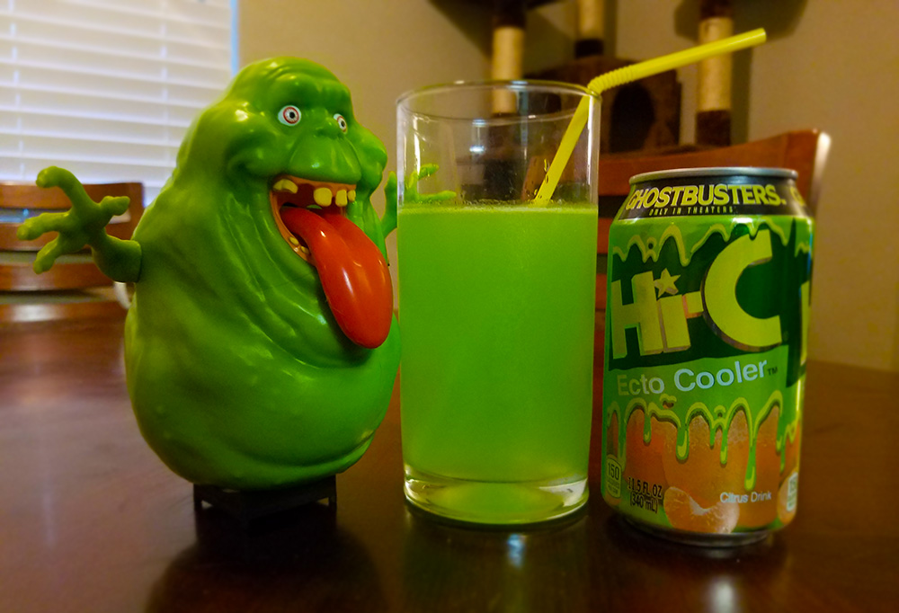 Ecto Cooler is meant to be consumed with a straw.