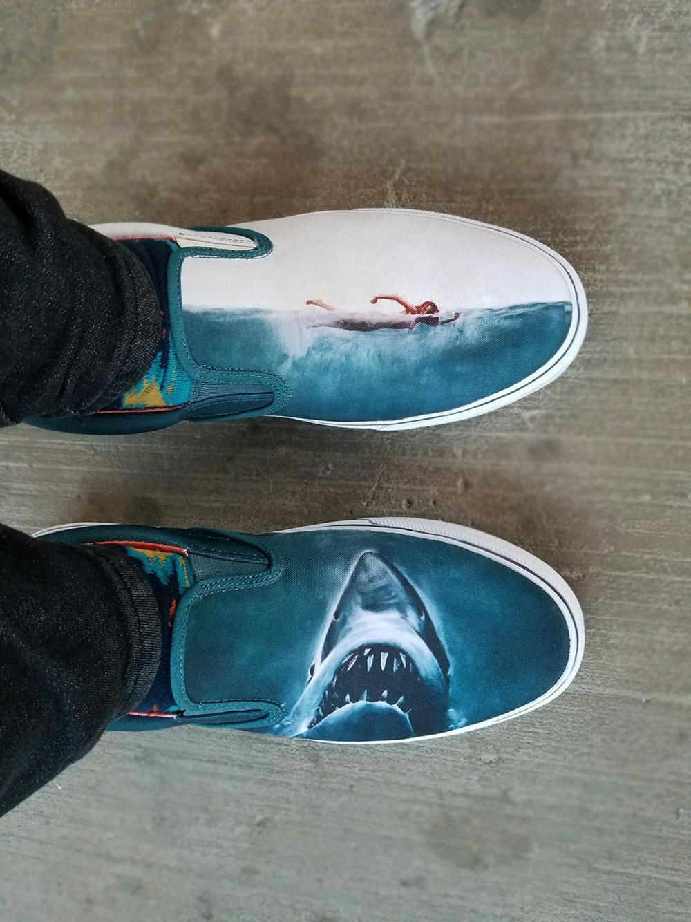 Sperry x Jaws Striper Slip On on foot