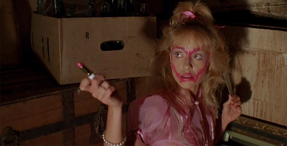 The only safe-for-work screengrab of Linnea Quigley in Night of the Demons