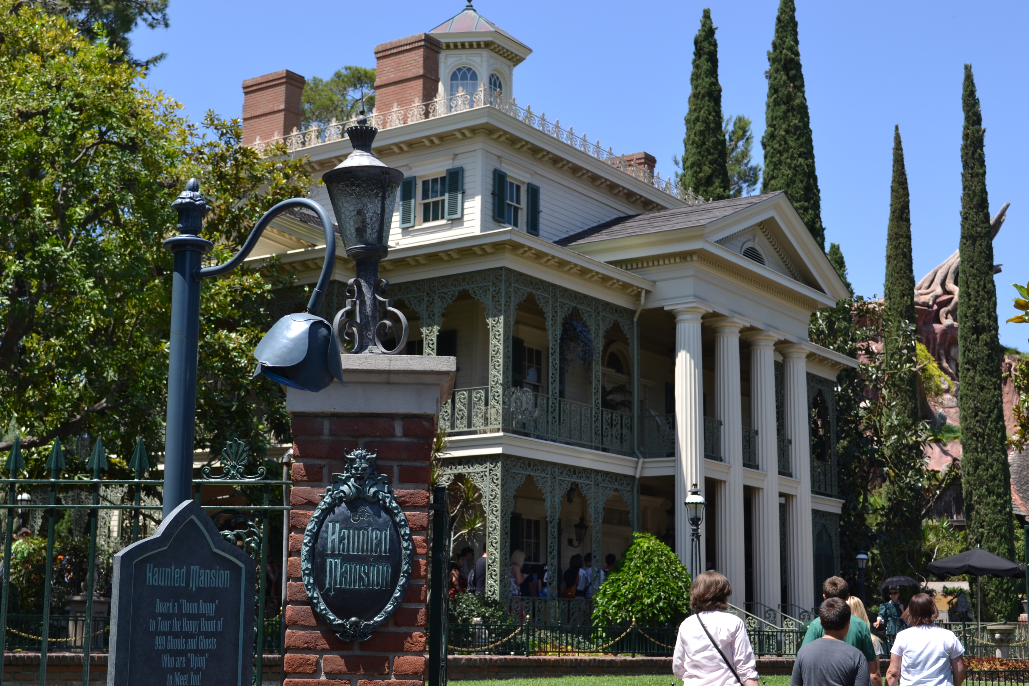 The Haunted Mansion remains mostly unchanged.