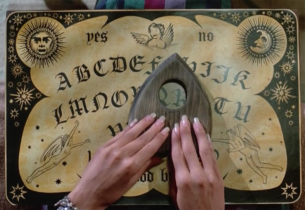 "The witchboard in use in ""Witchboard""."