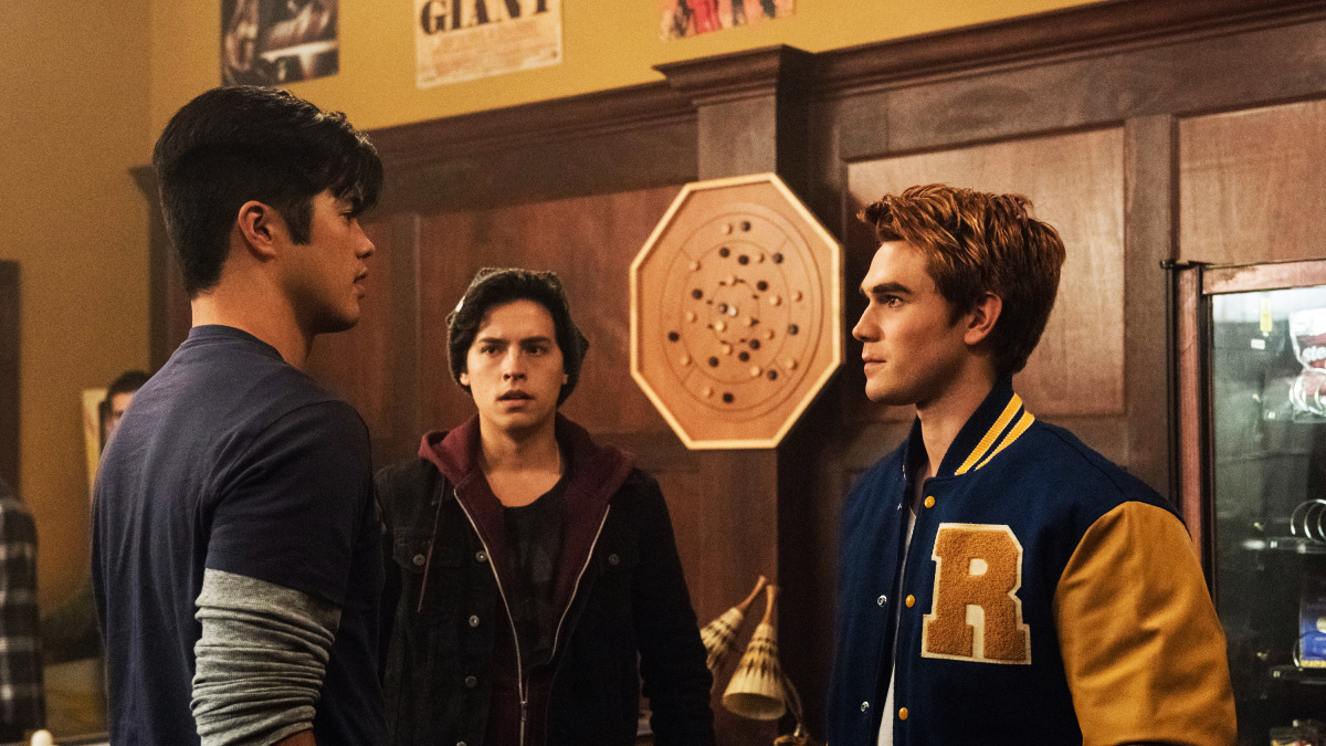 Reggie, Jughead, and Archie on Riverdale