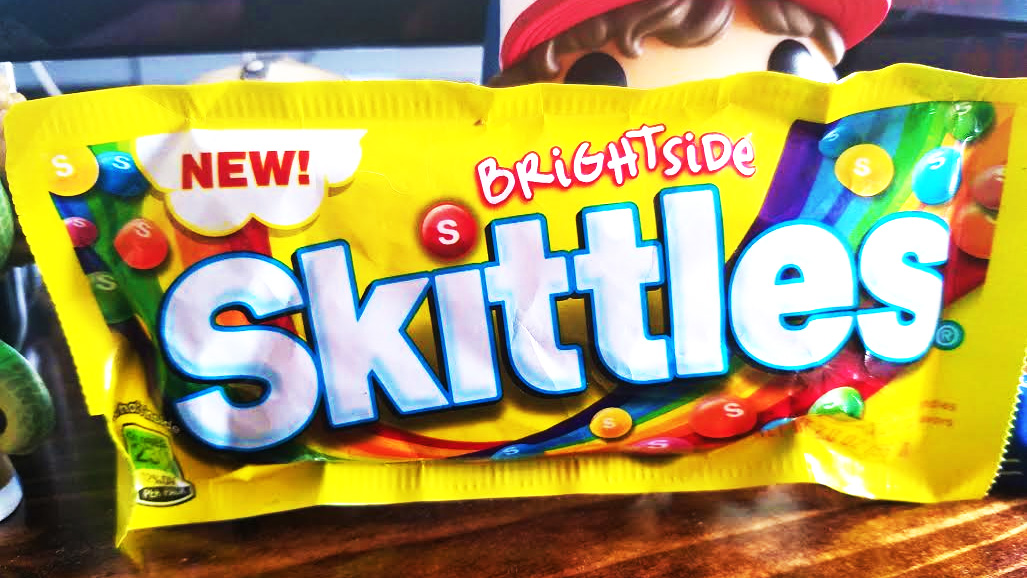 A bag of Brightside Skittles.